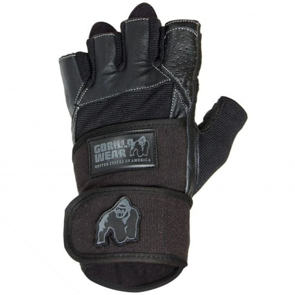 Treningshansker håndledds bandasje-Dallas- svart Gorilla Wear