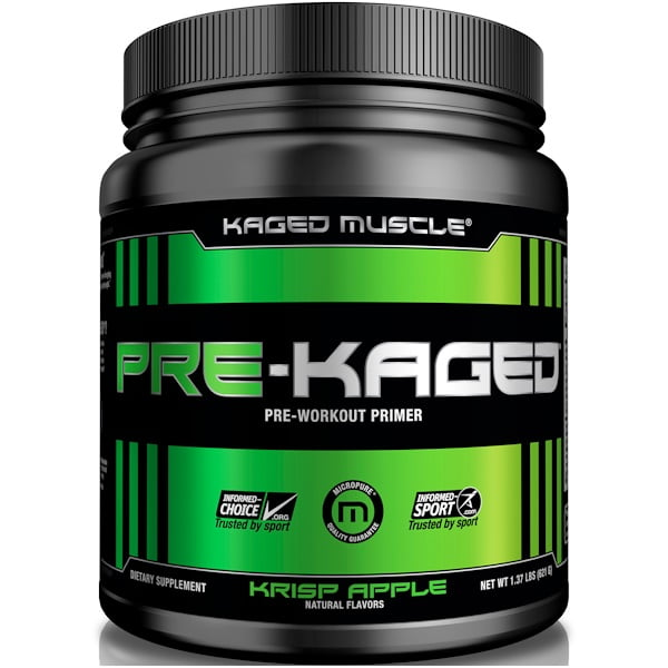 Kaged Muscle, PRE-KAGED, Pre-Workout Primer, Krisp Apple