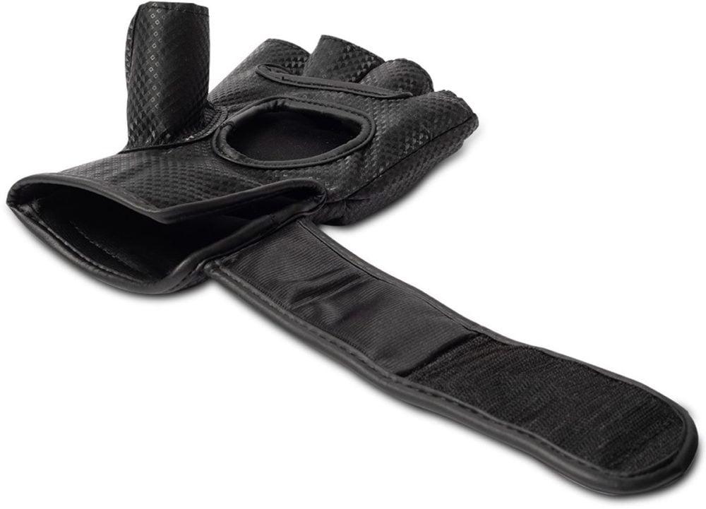 Manton MMA Gloves (With Thumb) - Black/White