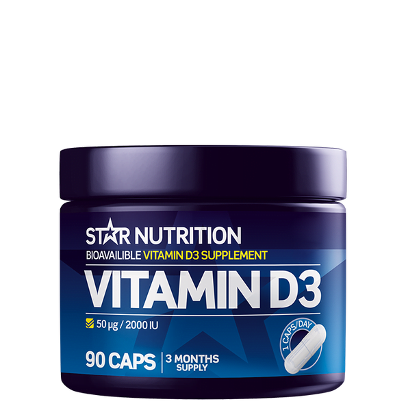 VitaminD3 50 µg/2000 IU Star-nutrition 90 kapsler