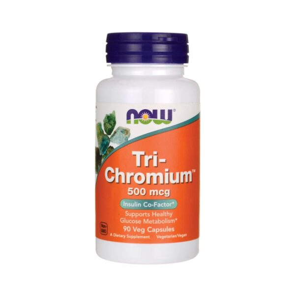 krom tri-chromium 500mcg now food 90 kapsler